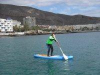 Clase de SUP en agua plana Los Cristianos 2 horas