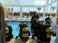 Equipo de buceo en Castellon
