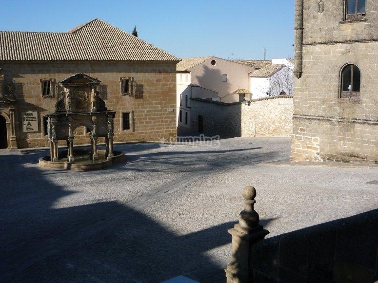The charms of the Plaza de Santa MarÍa in Baeza