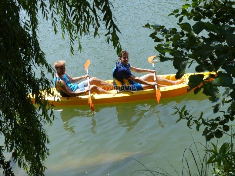 Recorriendo el Ebro riojano en kayak