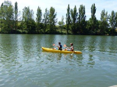 Kayak biplaza ruta por el río Ebro en Briñas 2 h