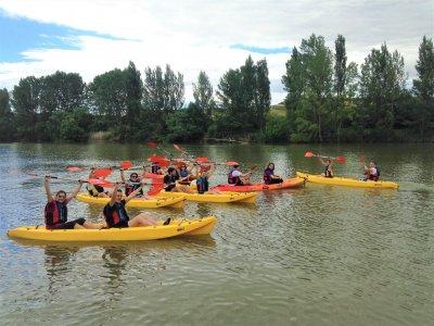 Ruta en kayak doble desde Briñas por Río Ebro 2h