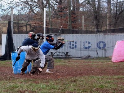 Partida paintball para adultos de 100 bolas Bullas