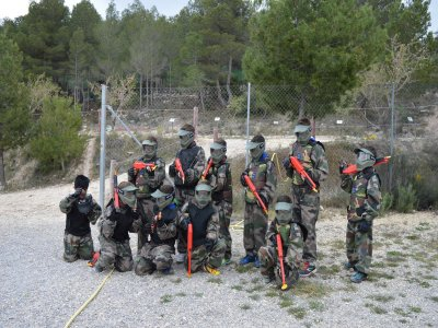 Paintball for children of 100 balls in Bullas