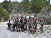 Departure of children's paintball in Bullas