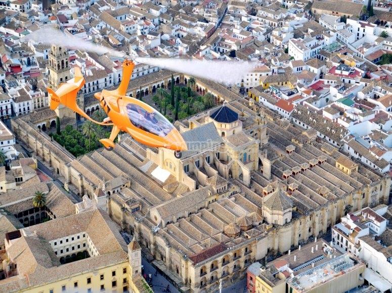 Volando sobre Cordoba en helicoptero