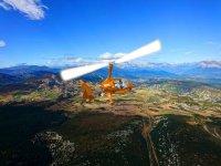 Alzando el vuelo en el helicoptero