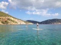 Día de paddle surf en Ibiza