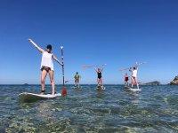 Paseando en paddle surf