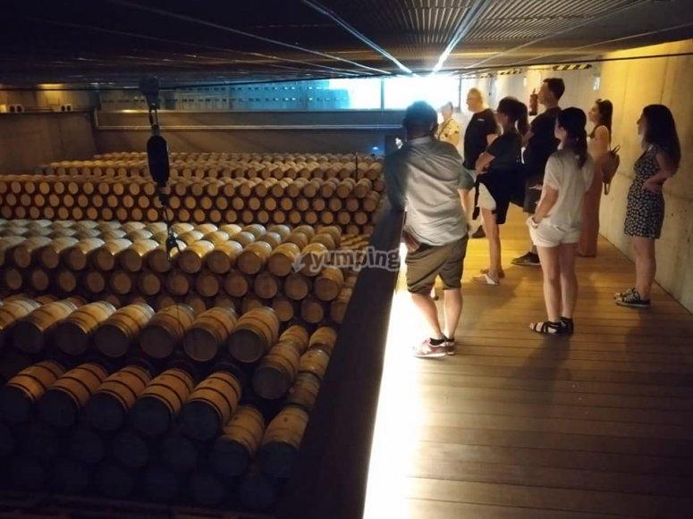 Alava酒窖之一的内部