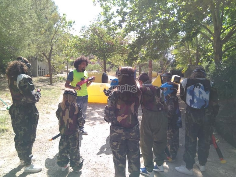 Paintball circuit for children in Bullas