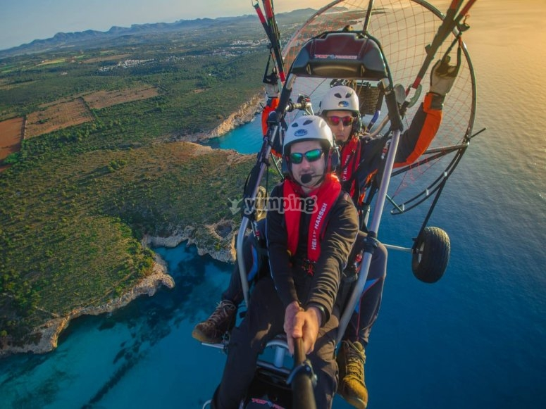 The virgin coves of Mallorca from the paramotor