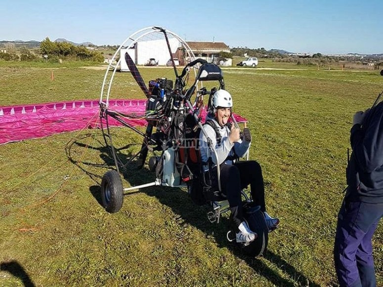 Moments prices to take off with the paramotor in Mallorca