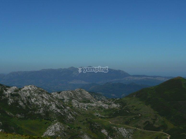 阿斯图里亚斯的山地景观