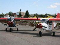 Airplane flight through Lugo de Llanera 1 hour