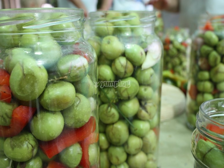 Degustación de oliva aloreña