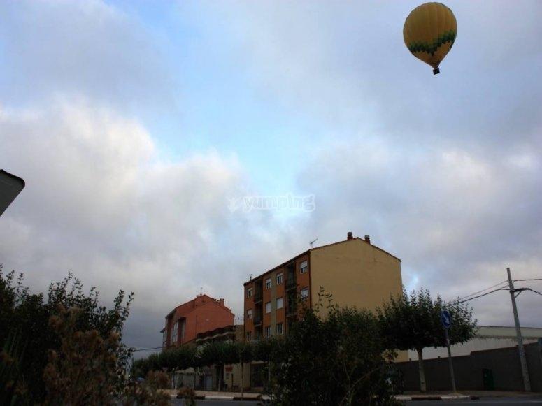 Hot air balloon flight over the history of Astorga