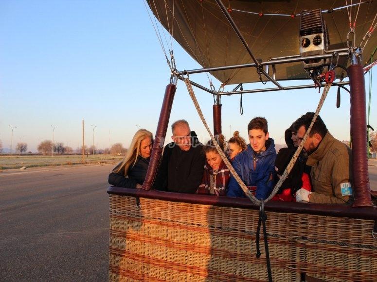 Basket full of passengers