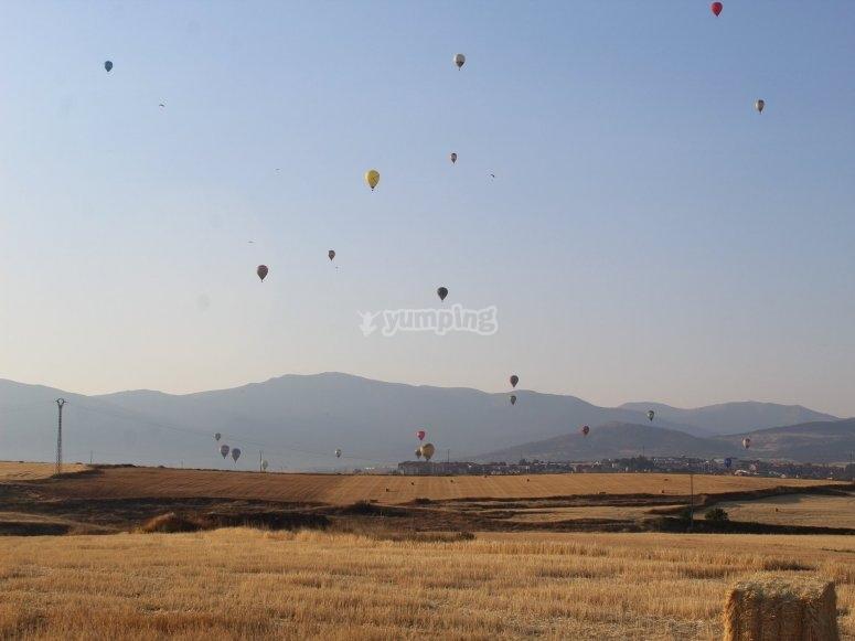 Balloon group flight from Toledo