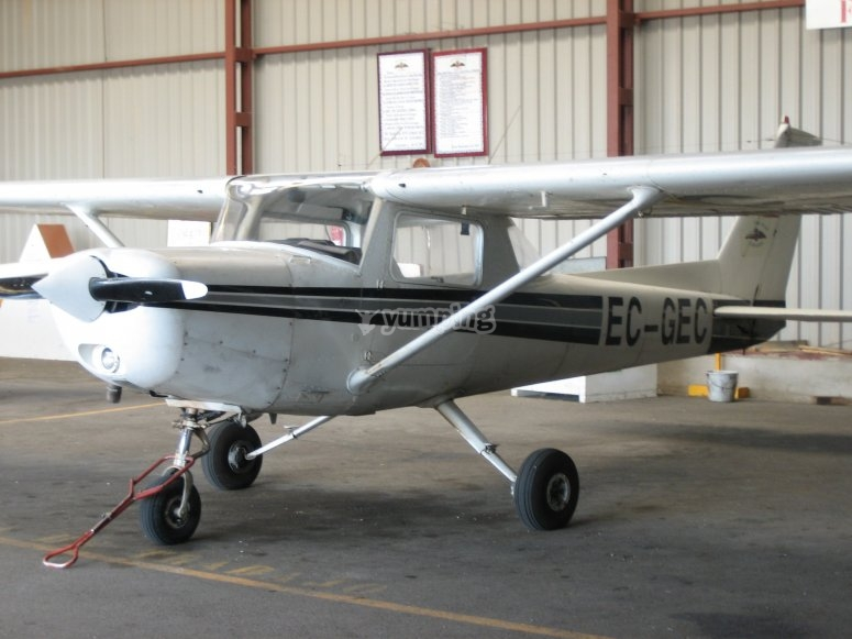 Ultralight in the hangar