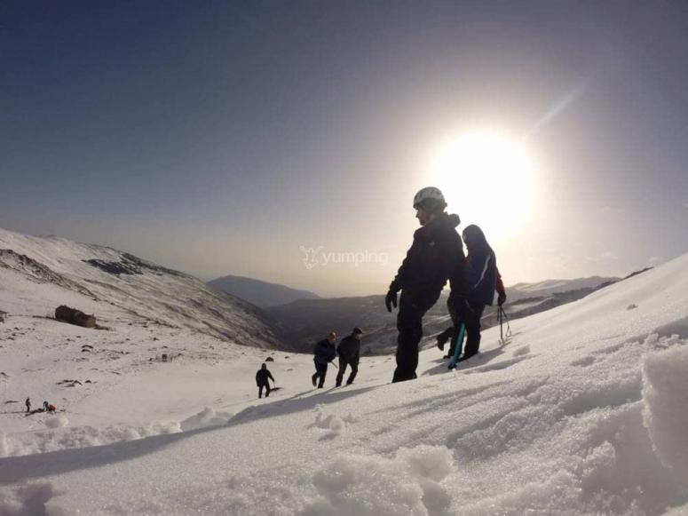 Ascension Veleta en temporada de nieve