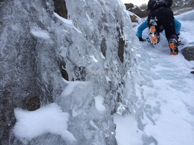 Escalada en hielo Sierra Nevada
