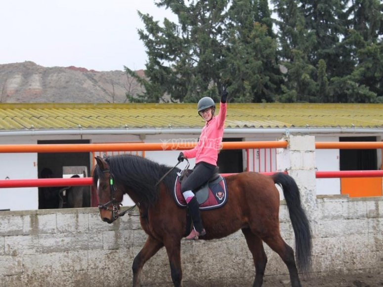 Primera experiencia a caballo en Burgo de Ebro