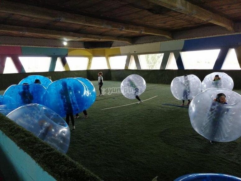 Pista de bubble soccer