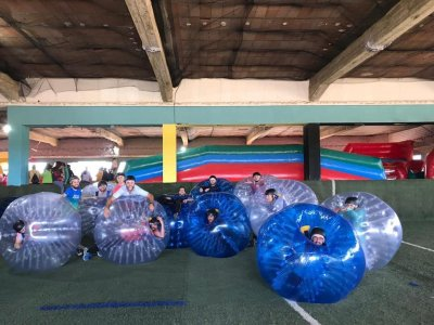 Partita di calcio a bolle a Salamanca 1 ora