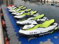 Float of Seadoo jet skis in Badalona