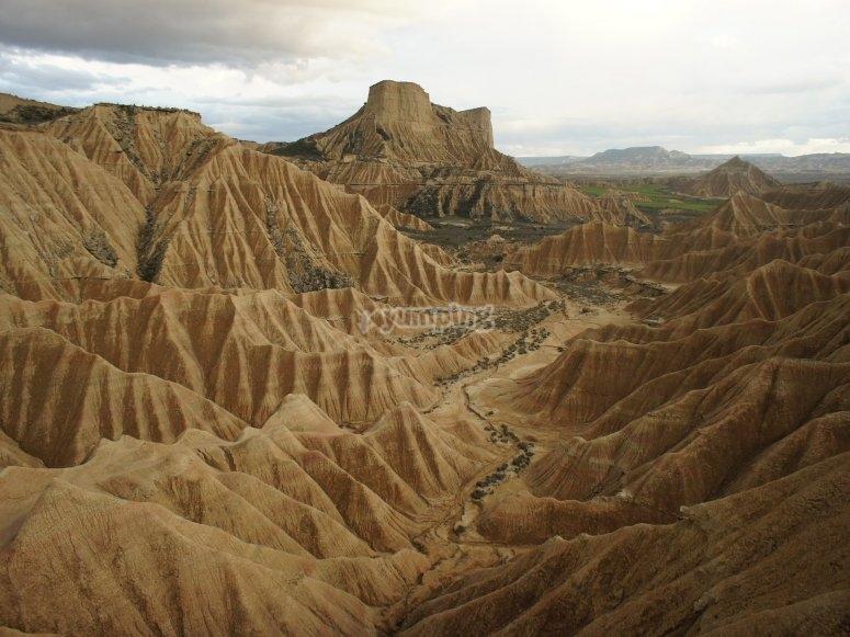 Formaciones de yeso y arcilla en Las Bardenas