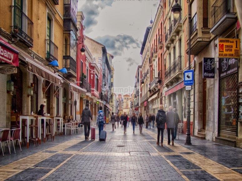 Escape street en la ciudad de León
