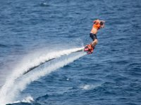 Flyboarding for the first time in Badalona