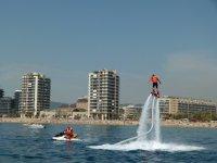 Flyboard in the coast of Catalunya