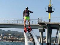 Flyboarding in the port of Badalona