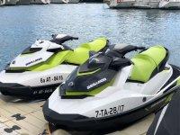 Sea Doo jet skis in the Badalona Port
