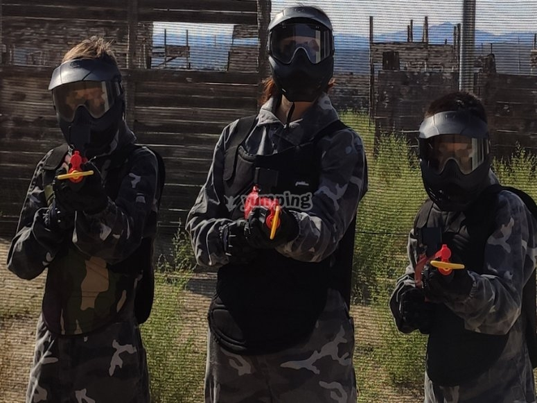 Family paintball in Quijorna