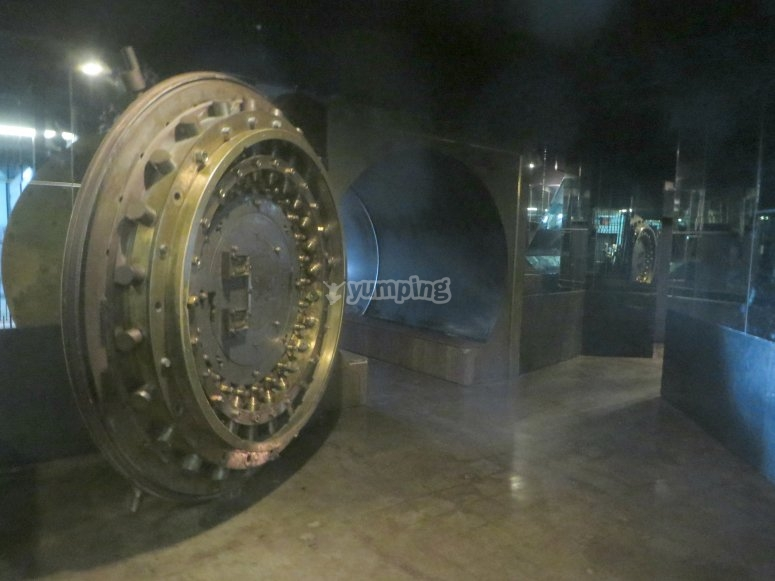 Open the bank security door