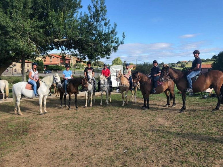 Group trip on a horse
