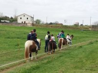 Pony ride for children in Santillana del Mar