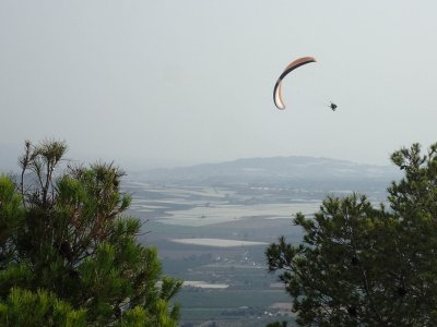 Tandem paragliding flight, photos Alhama de Murcia