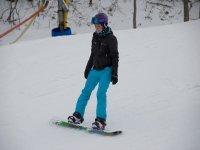 内华达山脉的1小时私人滑雪板课程