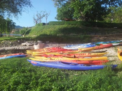 Canoeing in the river Ebro