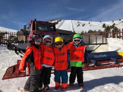 滑雪道4至7年Valdesquí运输6天