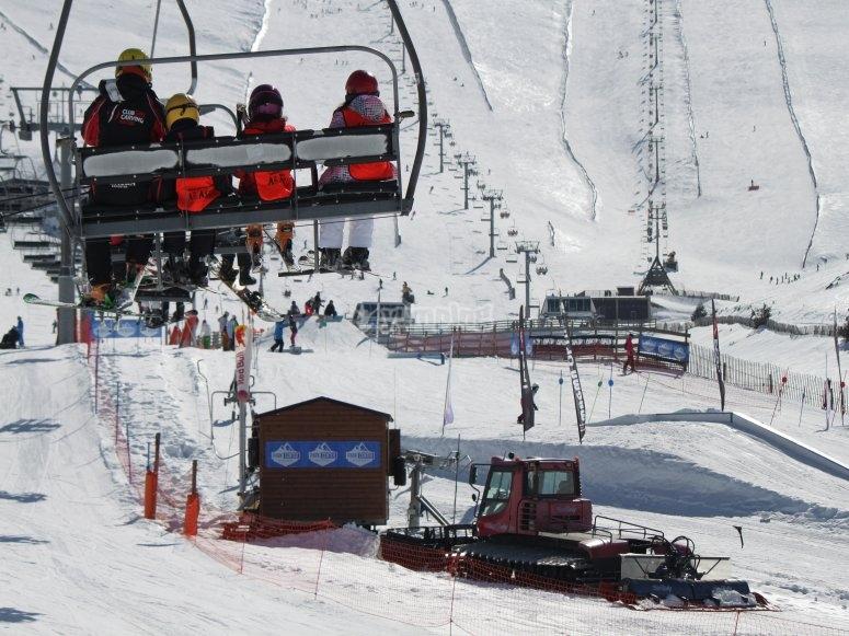 Estación de Valdesquí en invierno