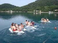 Team building activities on the water