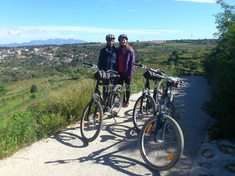 在Penedés高山区自行车