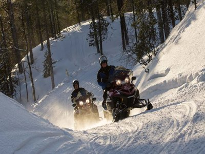 Snowmobile route for two Tena Valley 60 min