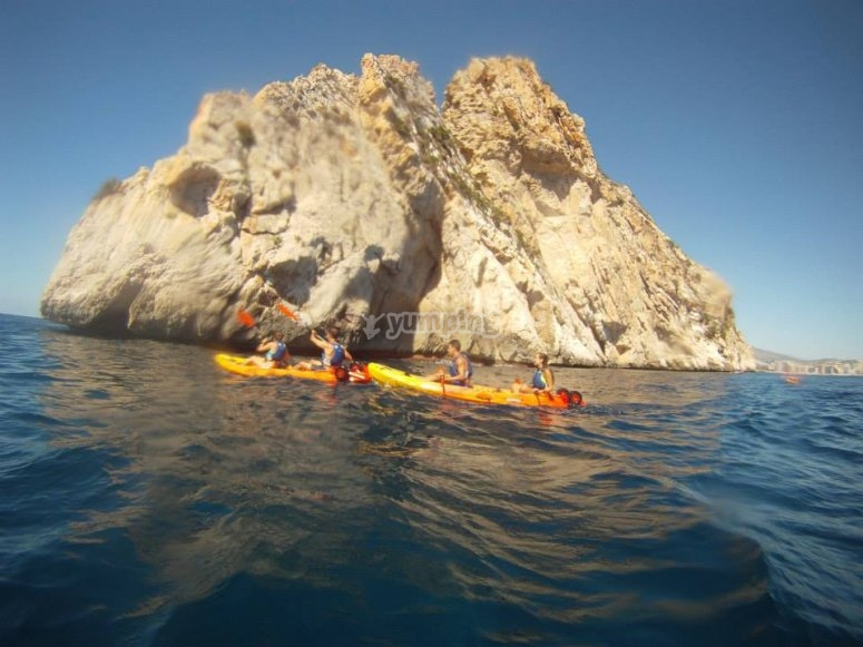 Kayak in Ifach