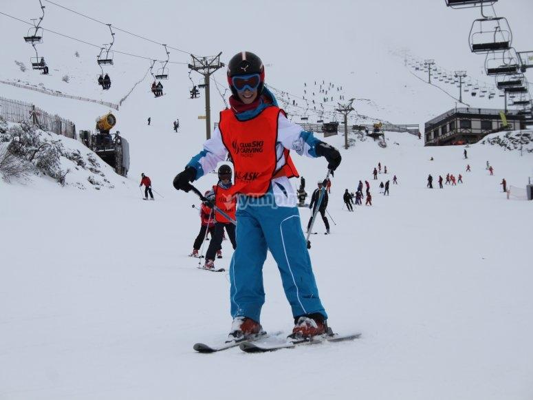 Private ski class in Valdesquí